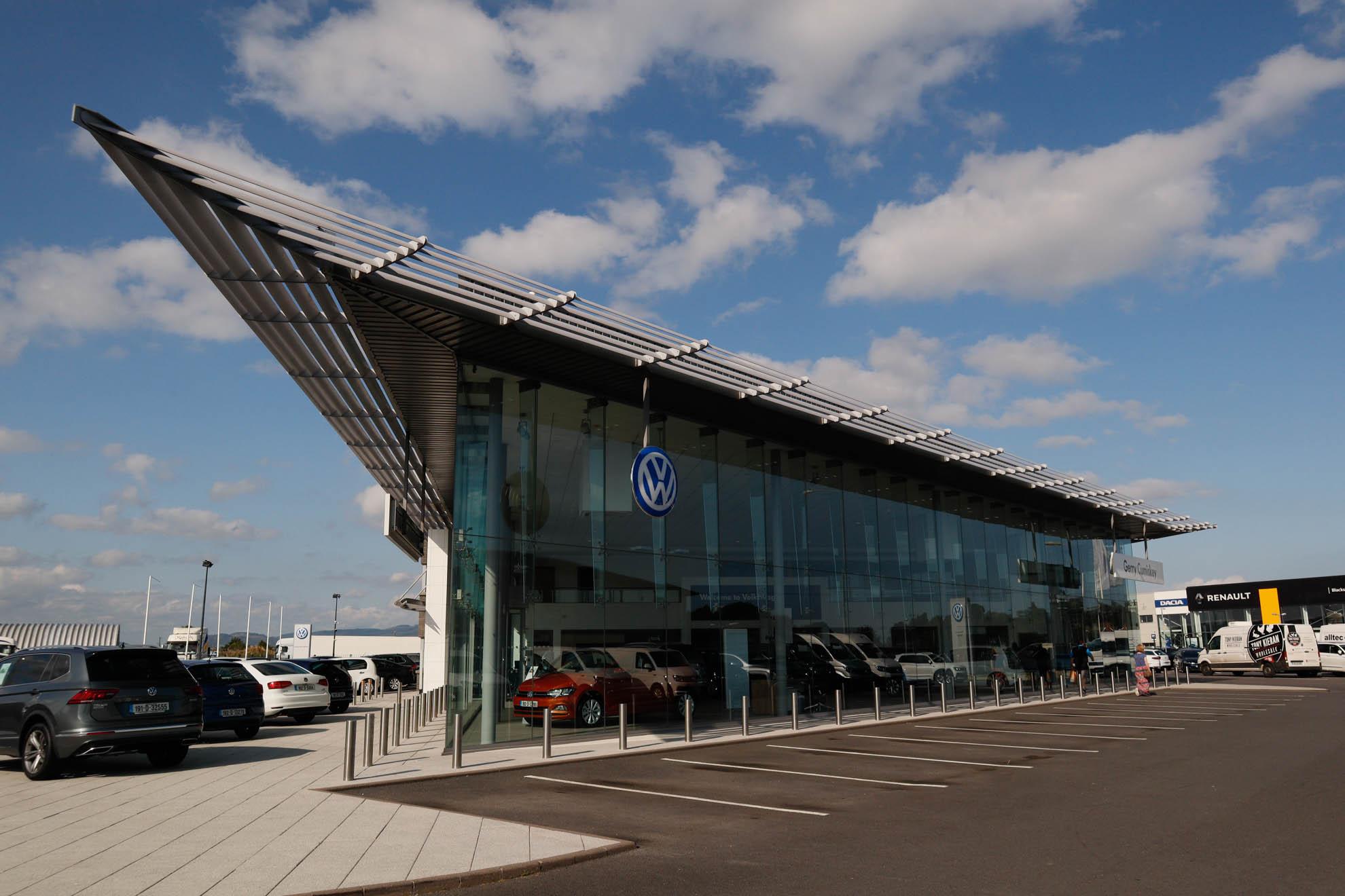 Gerry Cumiskey Motors, Volkswagon dealership, Dundalk, Meegan builders