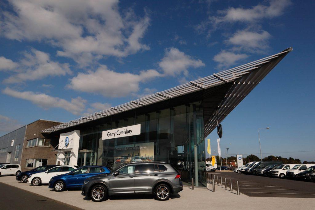 Gerry Cumiskey Motors, Gerry Cumiskey Motors, Volkswagon dealership, Dundalk, Meegan buildersVolkswagon dealership, Dundalk, Meegan builders