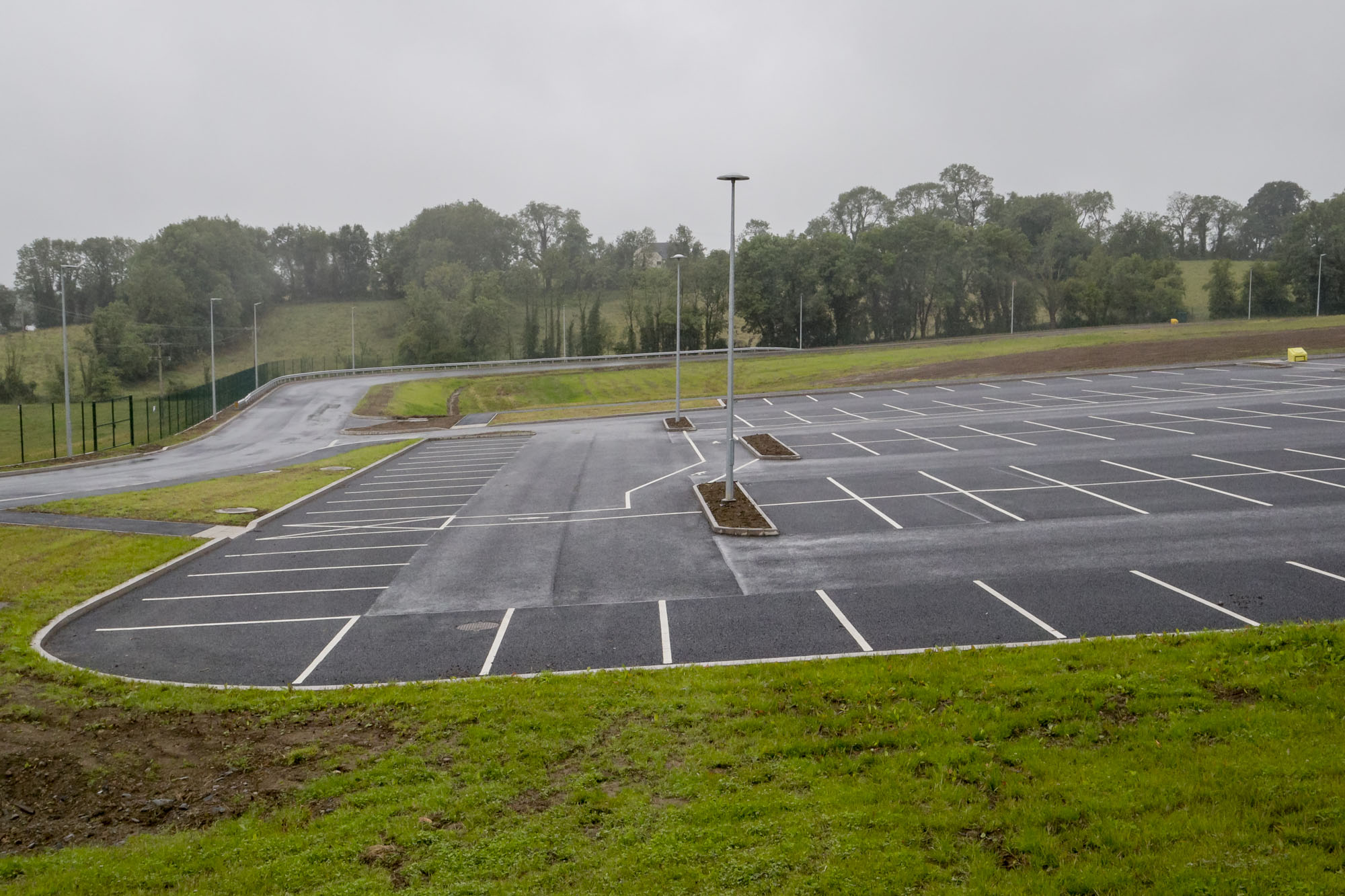 Meegan Builder - Mallons sausages new car park and factory entrance monaghan