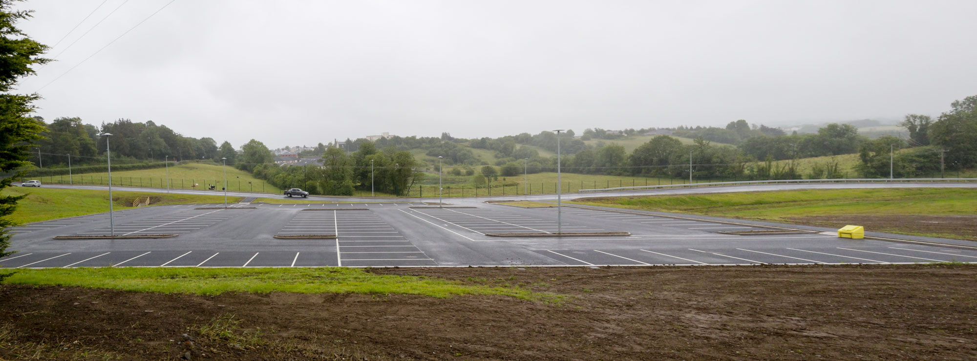 Mallons sausages new car park and factory entrance monaghan